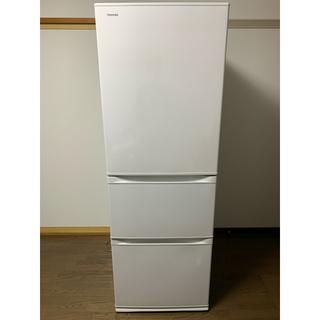 トウシバ(東芝)の地域限定送料無料 2020年製 363L冷蔵庫 東芝 ベジータ グレインホワイト(冷蔵庫)
