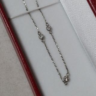 ジュエリーマキ(ジュエリーマキ)のジュエリーマキ  デザインネックレス  ダイヤ  プラチナ(ネックレス)