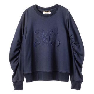 ミュベールワーク(MUVEIL WORK)のMUVEIL (ミュベール) 刺繍入り袖ボリュームプルオーバー(トレーナー/スウェット)