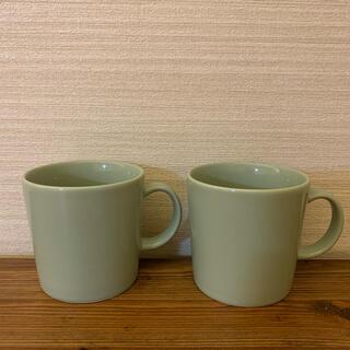 イッタラ(iittala)のイッタラiittalaティーママグカップ300ml廃盤セラドングリーン2個セット(食器)