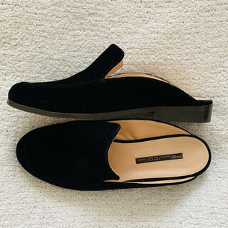 ペリーコ(PELLICO)のPELLICO♡ベルベット ミュールスリッポン 美品(ローファー/革靴)