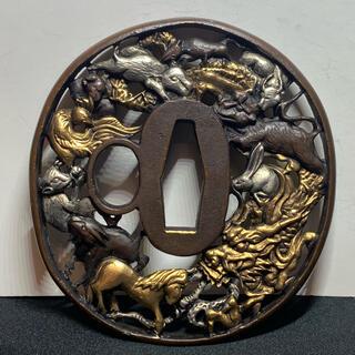 刀鍔、鍔、日本刀鍔 刀装具*十二支(武具)