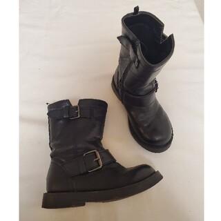 エイチアンドエム(H&M)のH&M キッズ エンジニアブーツ 16㎝ ブラック 黒(ブーツ)