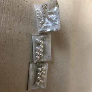 キワセイサクジョ(貴和製作所)の樹脂パール片穴 (各種パーツ)
