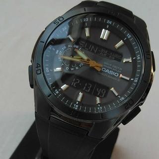 カシオ(CASIO)のCASIO 電波ソーラー 未使用 ブラックIPベゼル レア プレゼント(腕時計(アナログ))