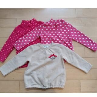ユニクロ(UNIQLO)の子供服 女子110 ユニクロなど三枚セット (Tシャツ/カットソー)