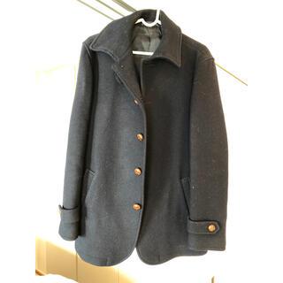 ムジルシリョウヒン(MUJI (無印良品))のコート 紺色 メンズ(ピーコート)
