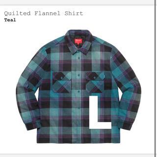 シュプリーム(Supreme)のsupreme Quilted Flannel Shirt teal L(シャツ)