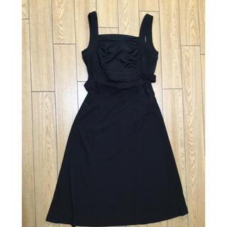 カールラガーフェルド(Karl Lagerfeld)のカールラガーフィールド 黒 ドレス ワンピース シンプル(ひざ丈ワンピース)