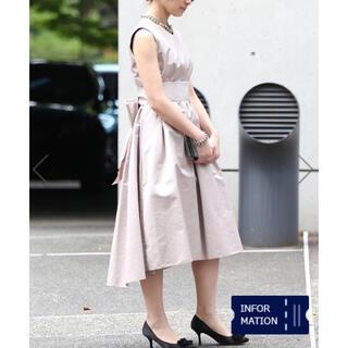ティアラ(tiara)のtiara バックリボンドレス(ミディアムドレス)