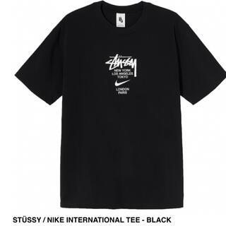 ナイキ(NIKE)のSTÜSSY / NIKE INTERNATIONAL TEE - BLACK(Tシャツ/カットソー(半袖/袖なし))
