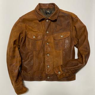 ダブルアールエル(RRL)の【極美品】RRL Leather Trucker Jacket L(レザージャケット)