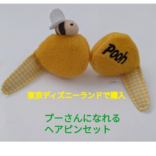 クマノプーサン(くまのプーさん)の東京ディズニーランドで購入 プーさんのヘアピンセット(バッジ/ピンバッジ)