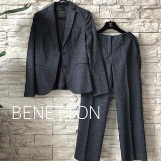ベネトン(BENETTON)のベネトン★美品 上質 グレンチェック シンプルこなれパンツスーツ(スーツ)