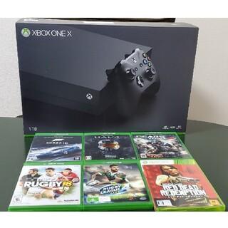エックスボックス(Xbox)のXbox One X  ソフト6本付き(家庭用ゲーム機本体)