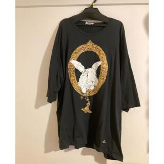 ヴィヴィアンウエストウッド(Vivienne Westwood)のvivienne westwood MAN ビッグTシャツ ブラック 黒 ウサギ(Tシャツ/カットソー(七分/長袖))