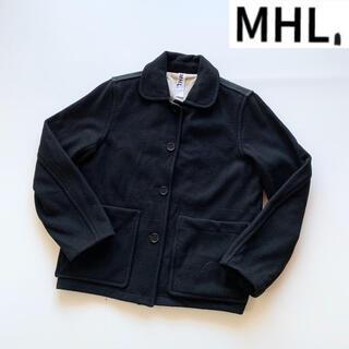 マーガレットハウエル(MARGARET HOWELL)のMHL. ウールメルトンドンキージャケット イギリス製 サイズ2 ブラック(ブルゾン)