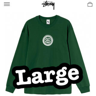 ステューシー(STUSSY)のSTUSSY NIKE SS LINK LS TEE GREEN(Tシャツ/カットソー(半袖/袖なし))