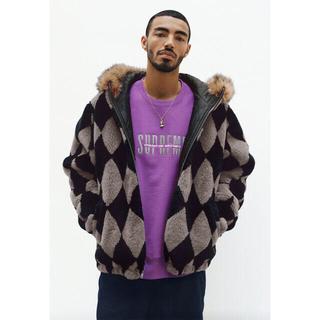 シュプリーム(Supreme)のシュプリーム    diamond faux fur jacket (ブルゾン)