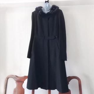 プラダ(PRADA)のプラダ  ミンク襟 コート (ロングコート)
