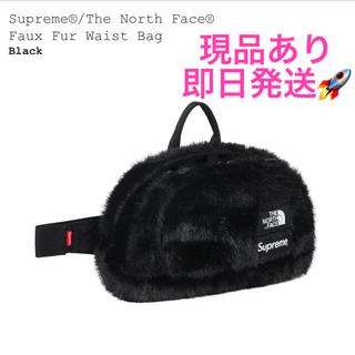 シュプリーム(Supreme)のSupreme TNF Faux Fur Waist Bag ブラック 黒(ウエストポーチ)