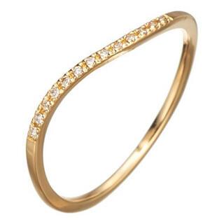 アガット(agete)のアガット k18 ウェーブ ハーフエタニティ リング ダイヤ(リング(指輪))