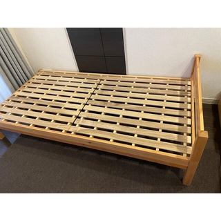 ムジルシリョウヒン(MUJI (無印良品))の無印 ベッド パイン材 シングル(シングルベッド)