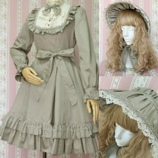Victorian maiden - クラシカル ドール ドレス ボンネット ハット セット ロリィタ グリーン 緑