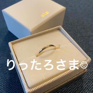 エテ(ete)のete  K10YGレイヤード クラフト リング(リング(指輪))