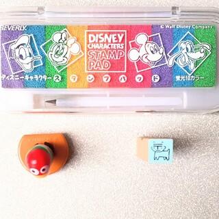 ディズニー(Disney)のキョロちゃん 〒スタンプ ミッキースタンプパッド(印鑑/スタンプ/朱肉)