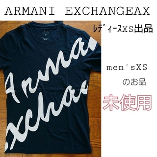 アルマーニエクスチェンジ(ARMANI EXCHANGE)のARMANI EXCHANGEAX 筆記体ロゴ ネイビー X-Sメンズsize(Tシャツ(半袖/袖なし))