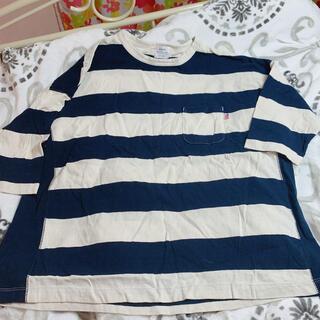 コーエン(coen)のコーエン ボーダー 半袖 紺色(Tシャツ(半袖/袖なし))