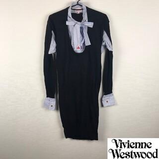 ヴィヴィアンウエストウッド(Vivienne Westwood)の美品 ヴィヴィアンウエストウッドレッドレーベル 長袖カットソー レイヤード(カットソー(長袖/七分))