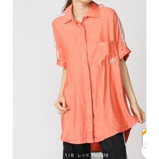 アディダス(adidas)のアディダスオリジナルス サテンシャツ(シャツ/ブラウス(半袖/袖なし))