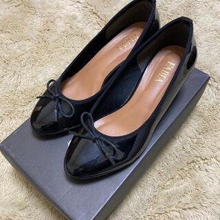 プラステ(PLST)のFABIA ファビア エナメル レインシューズ 黒 22.5cm(ハイヒール/パンプス)