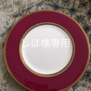 ニッコー(NIKKO)のNIKKOボーンチャイナ ペアディナープレート赤2枚(食器)