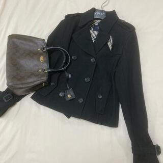 バーバリー(BURBERRY)の美品 バーバリー ロンドン コート ブラック 黒(ピーコート)