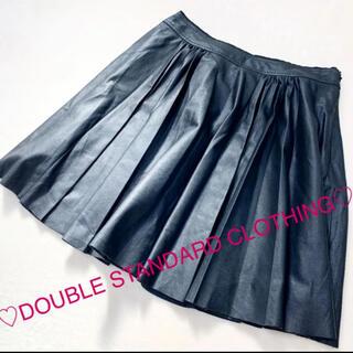 ダブルスタンダードクロージング(DOUBLE STANDARD CLOTHING)のフェイクレザー / プリーツスカート(ひざ丈スカート)