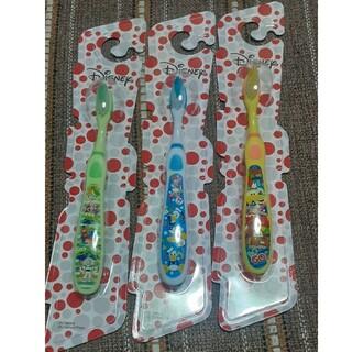 ディズニー(Disney)のディズニー 歯ブラシ 3本セット 子供用(歯ブラシ/歯みがき用品)