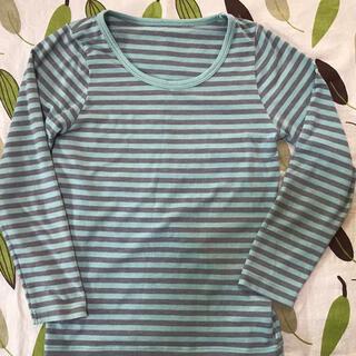 ジーユー(GU)のキッズUネックシャツ 長袖肌着 長袖インナー 120cm 美品(下着)