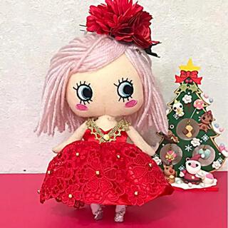 アタオ(ATAO)のイーマリー服 赤のドレス(ぬいぐるみ)