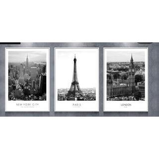 フランフラン(Francfranc)のポスター アート モノクロ 3枚セット(アート/写真)