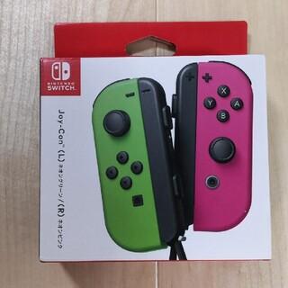 ニンテンドースイッチ(Nintendo Switch)の新品 Nintendo Switch Joy-Con グリーン/ピンク(家庭用ゲーム機本体)