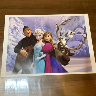 ディズニー(Disney)の非売品 ディズニー アナと雪の女王①ポスター アートコレクション(絵画/タペストリー)