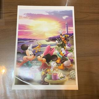 ディズニー(Disney)の非売品 ディズニー ミッキーとミニーのポスター アートコレクション(絵画/タペストリー)