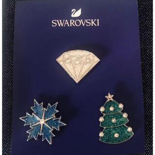 スワロフスキー(SWAROVSKI)のスワロフスキー ピンバッチ バッジ(バッジ/ピンバッジ)