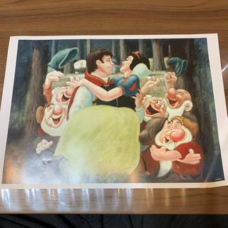 ディズニー(Disney)の非売品 レトロ 白雪姫のポスター アートコレクション(絵画/タペストリー)