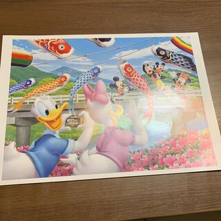 ディズニー(Disney)の非売品 ディズニー ドナルドとデイジーのポスター アートコレクション(絵画/タペストリー)