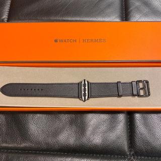 エルメス(Hermes)の【新品未使用】Apple Watch HERMES ブラックレザー(ラバーベルト)