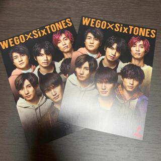 ウィゴー(WEGO)のSixTONES ポストカード 1枚(アイドルグッズ)